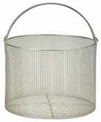 "Picture of Hirayama Sterilizer Basket for 50-L autoclaves, SS, 10.7""D, 22""H"